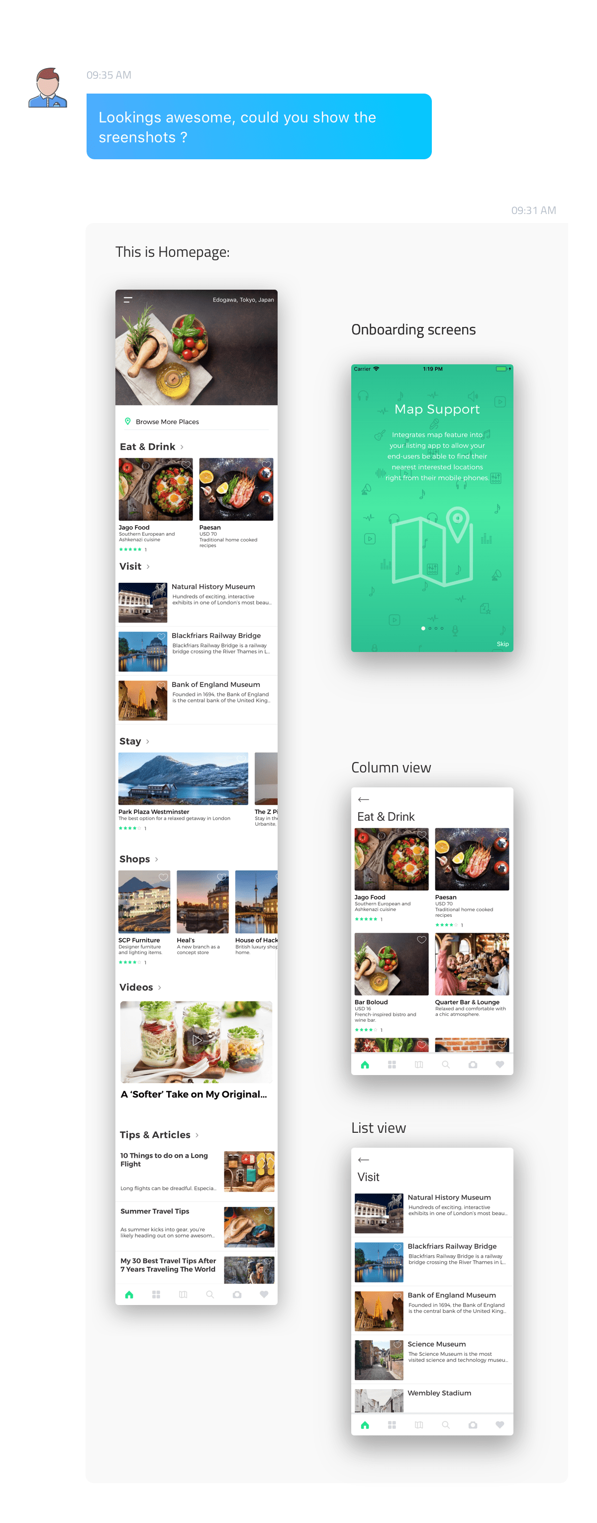ListApp - Listing Directory mobile app by React Native (Expo version) - 6