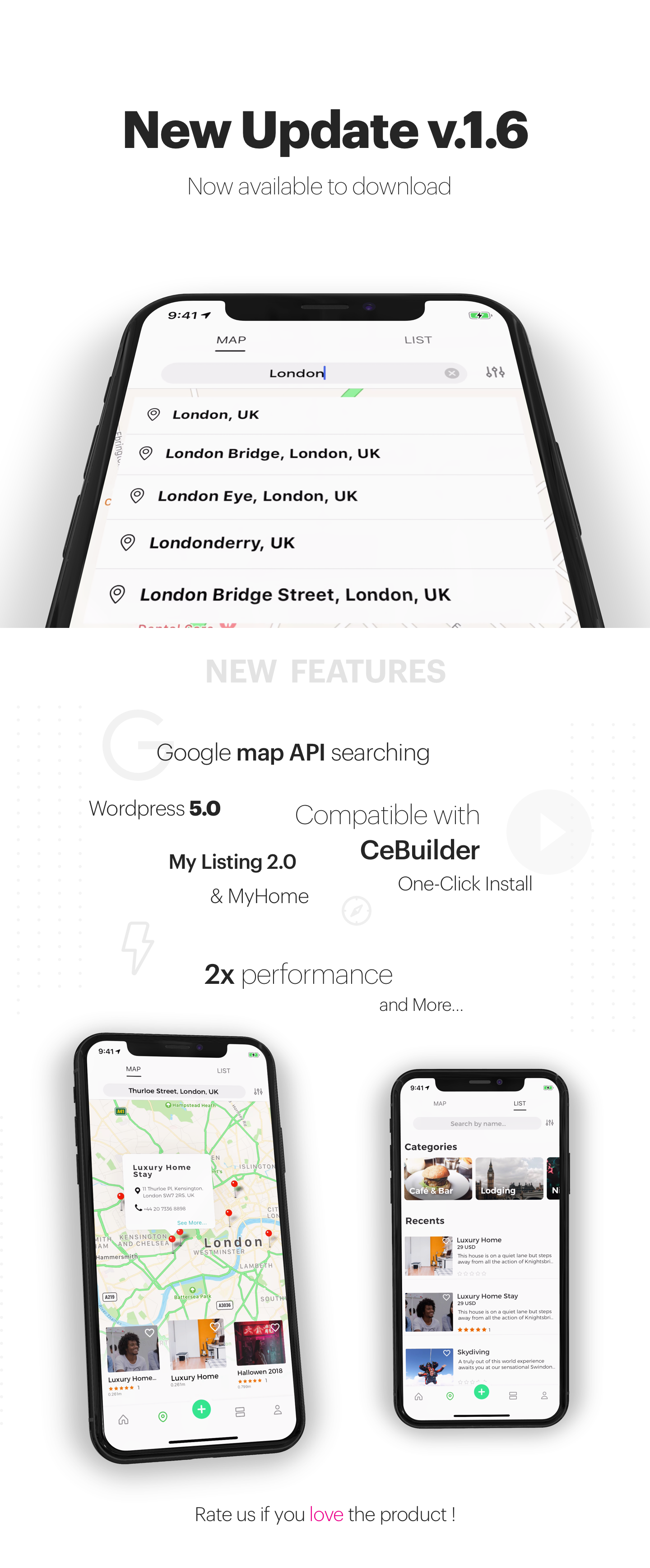 ListApp - Listing Directory mobile app by React Native (Expo version) - 2
