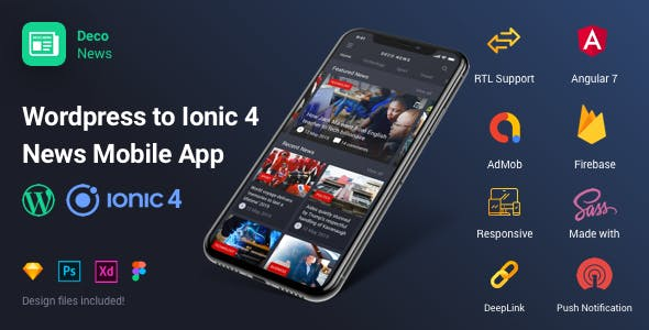 ionic 4 deco ui kit news