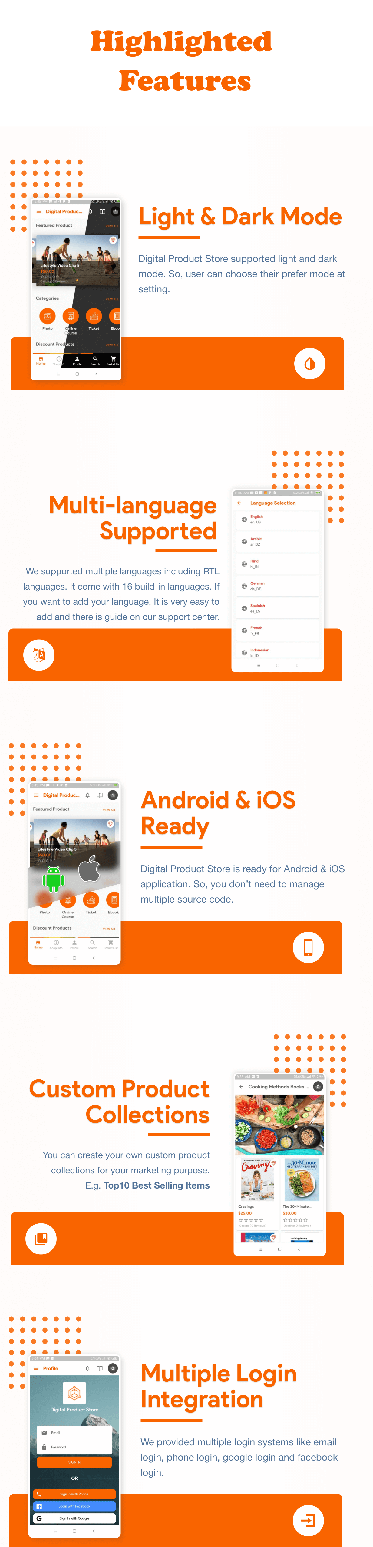 App Highlighted Features 1