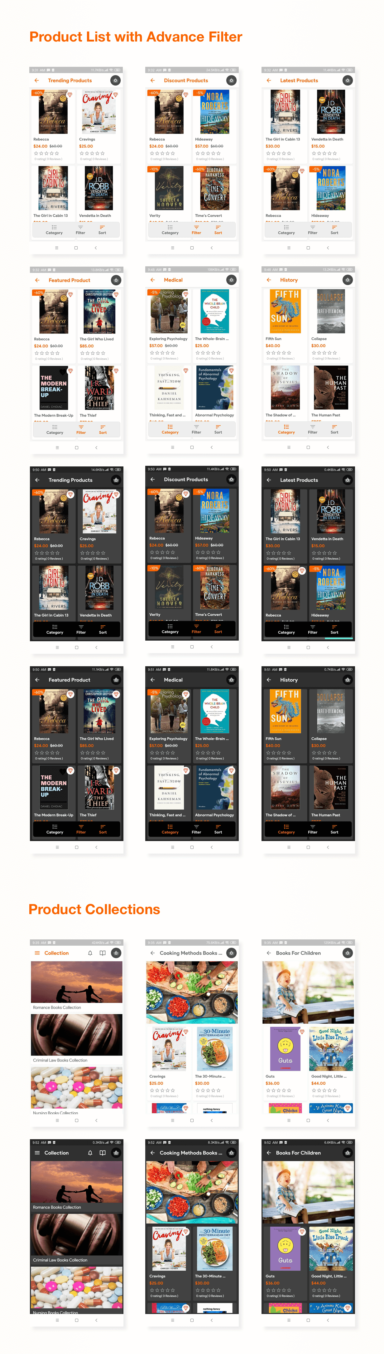 Digital Download Products Store For eBook, Video, Photo (Using Flutter For iOS and Android) 1.4 - 7