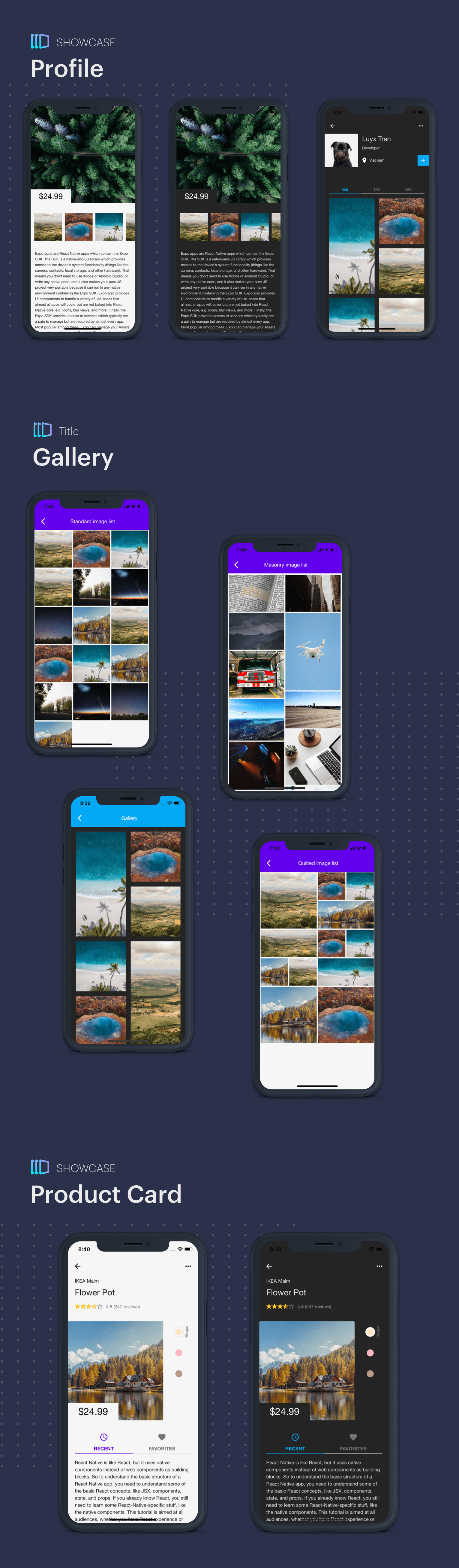 ReactXS - UIKit for Material Design 2.0 by React Native - 5