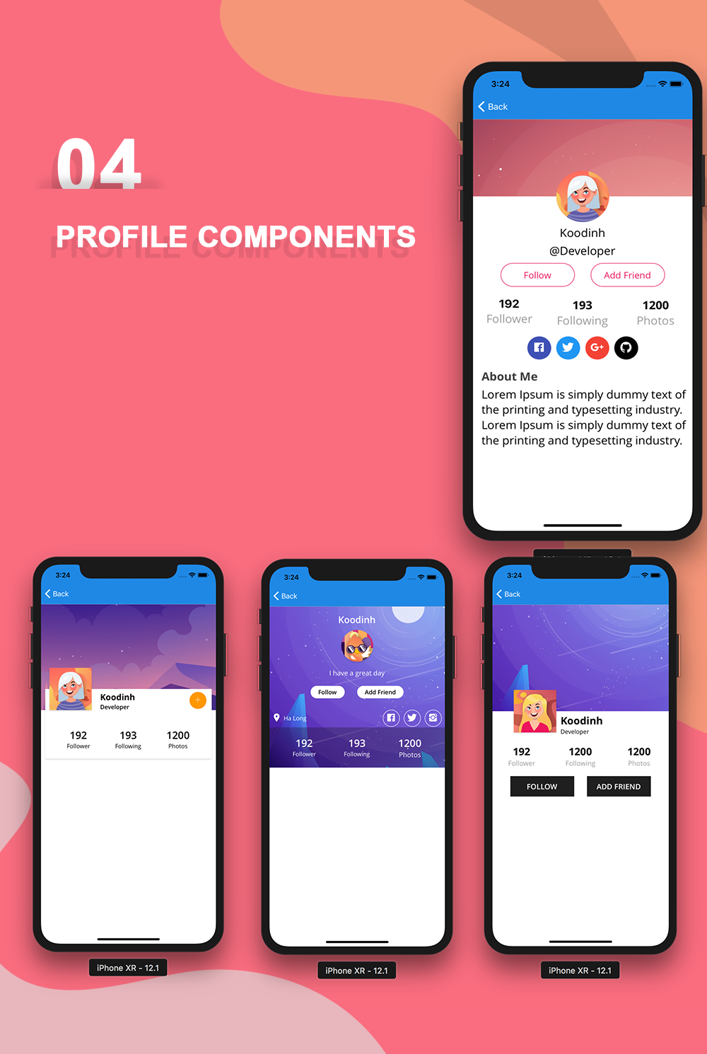 Phoenix - Full multipurpose React-Native Application & UI Component - 10