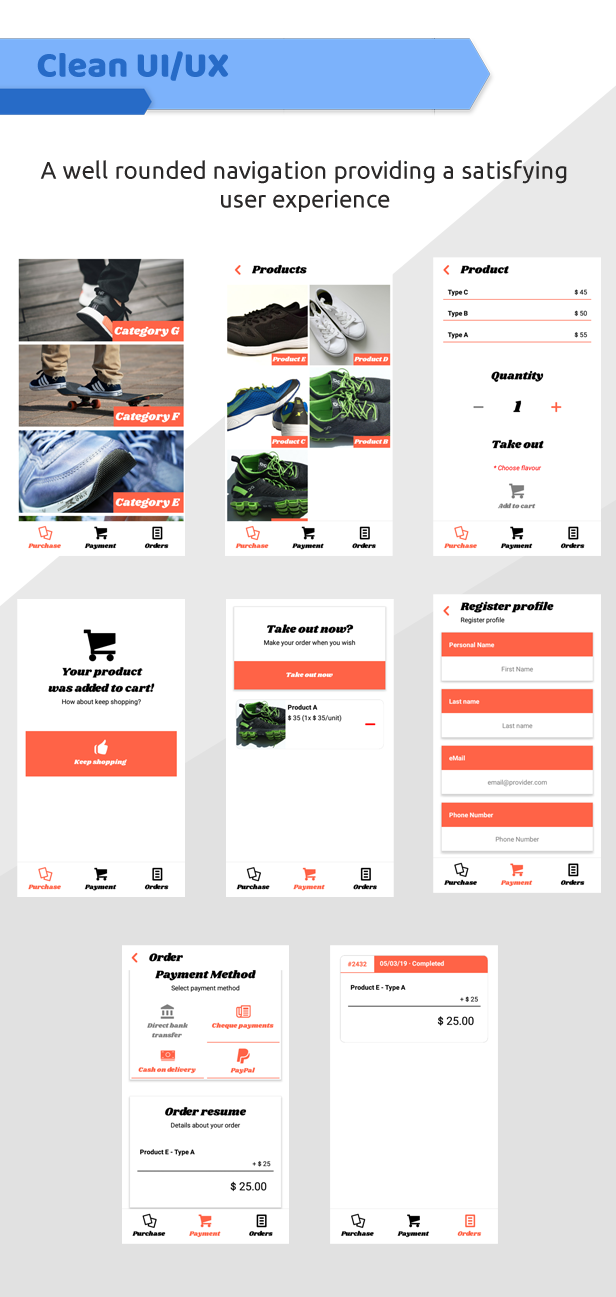 eStore WooCommerce - Android and iOS eCommerce App - 1
