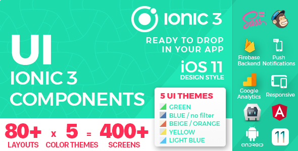 Ionic 3 / Angular 6 UI Theme /  Template App - Multipurpose Starter App - Orange Light - 2