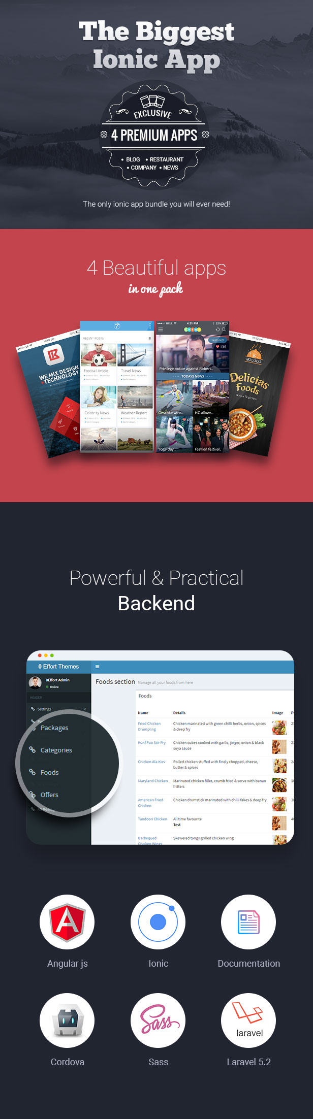 X App - Hand-crafted multiple ionic apps with Laravel backend - 2