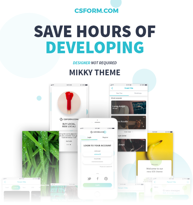 Ionic 6 Mikky Save hours of developing