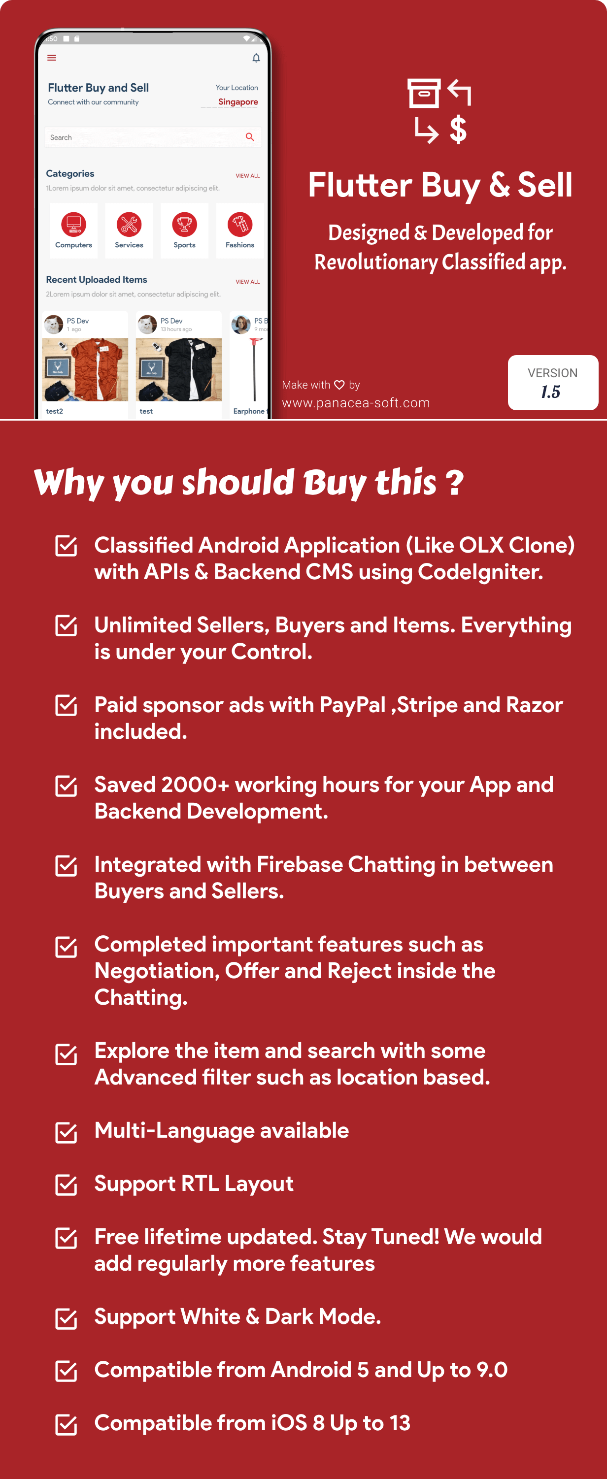 Flutter Buy & Sell ( Olx, Mercari, Offerup, Carousell ) Clone Classified App - img4
