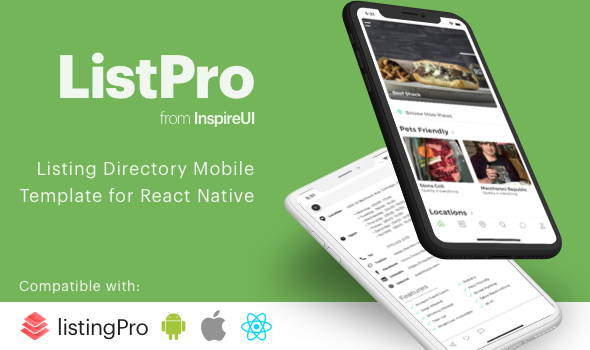 ListPro – Listing Directory React Native template