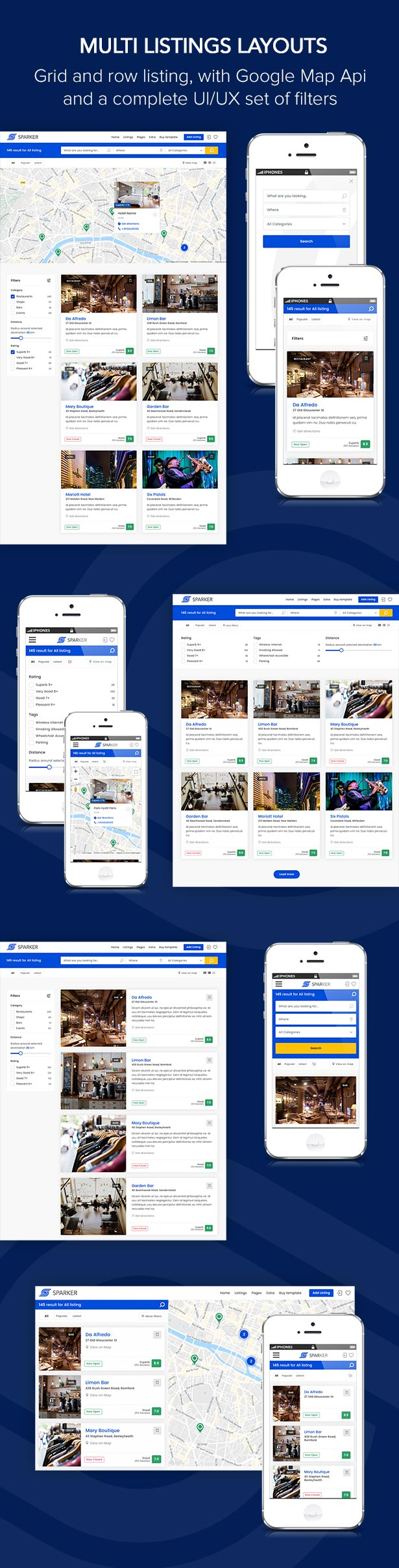 Sparker directory listings template