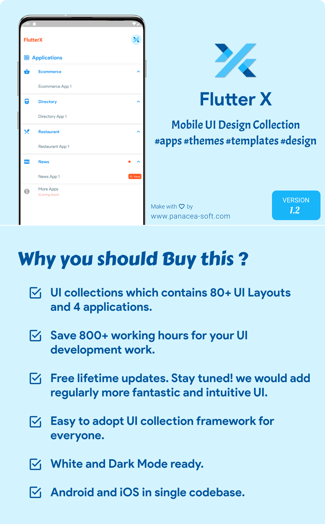 FlutterX (Flutter UI Kits Widgets and Template Collection For iOS & Android) 1.1 - 5
