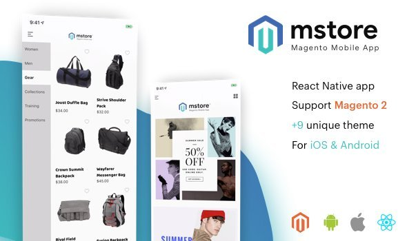 MStore Magento – the complete react native app for Magento 2
