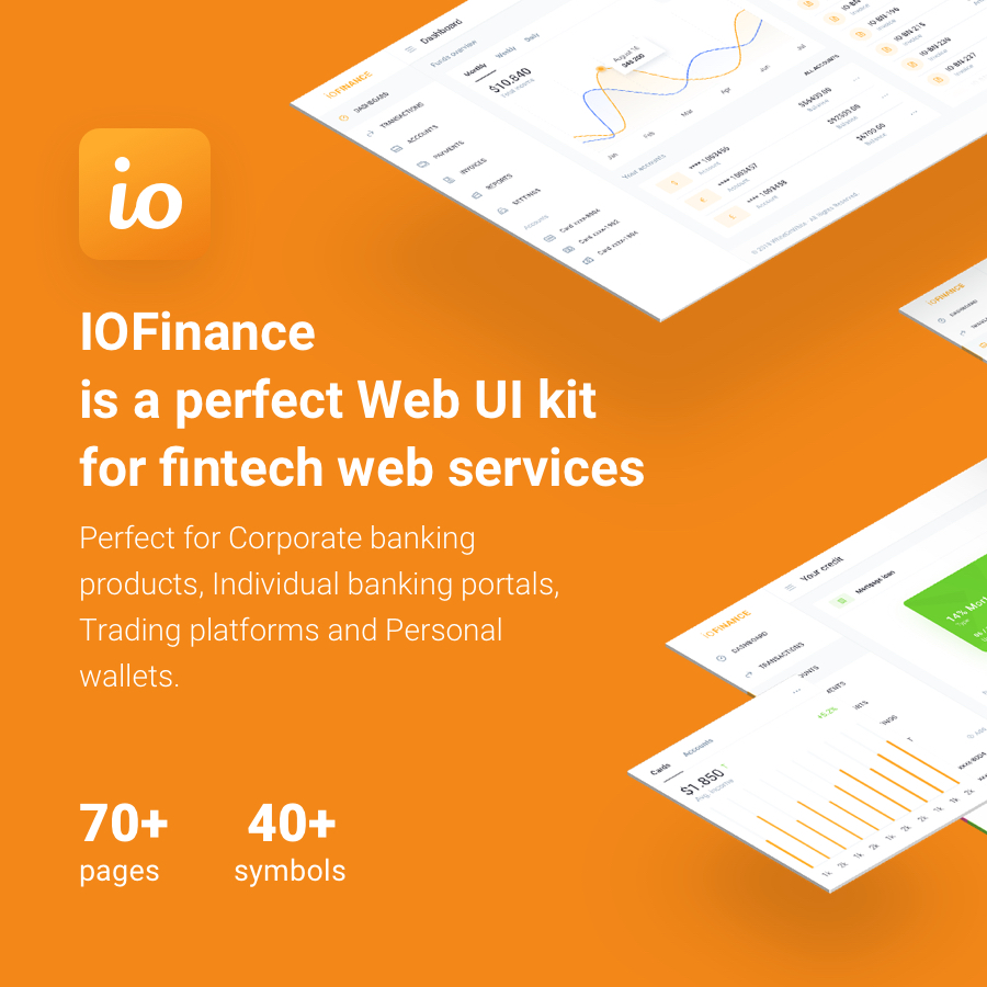 IOFinance - UI Kit for Finance, Banking and Wallet Websites - 2