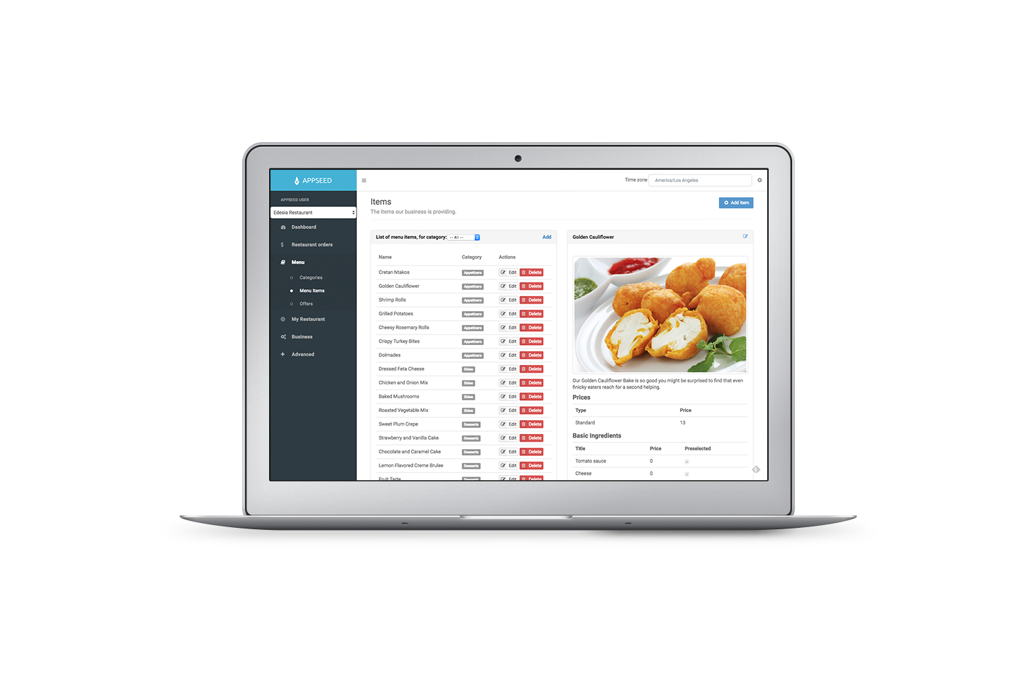 Appseed Restaurant - Full Application with self hosted backend - 8