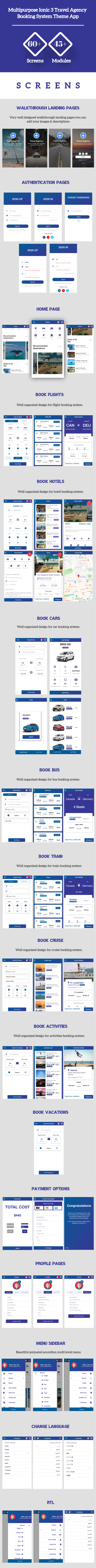 Ionic 3 Travel Agency Booking System Theme App Supports Multi Language - 2