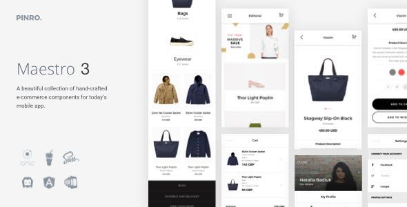 Maestro – Ionic 3 E-Commerce Template
