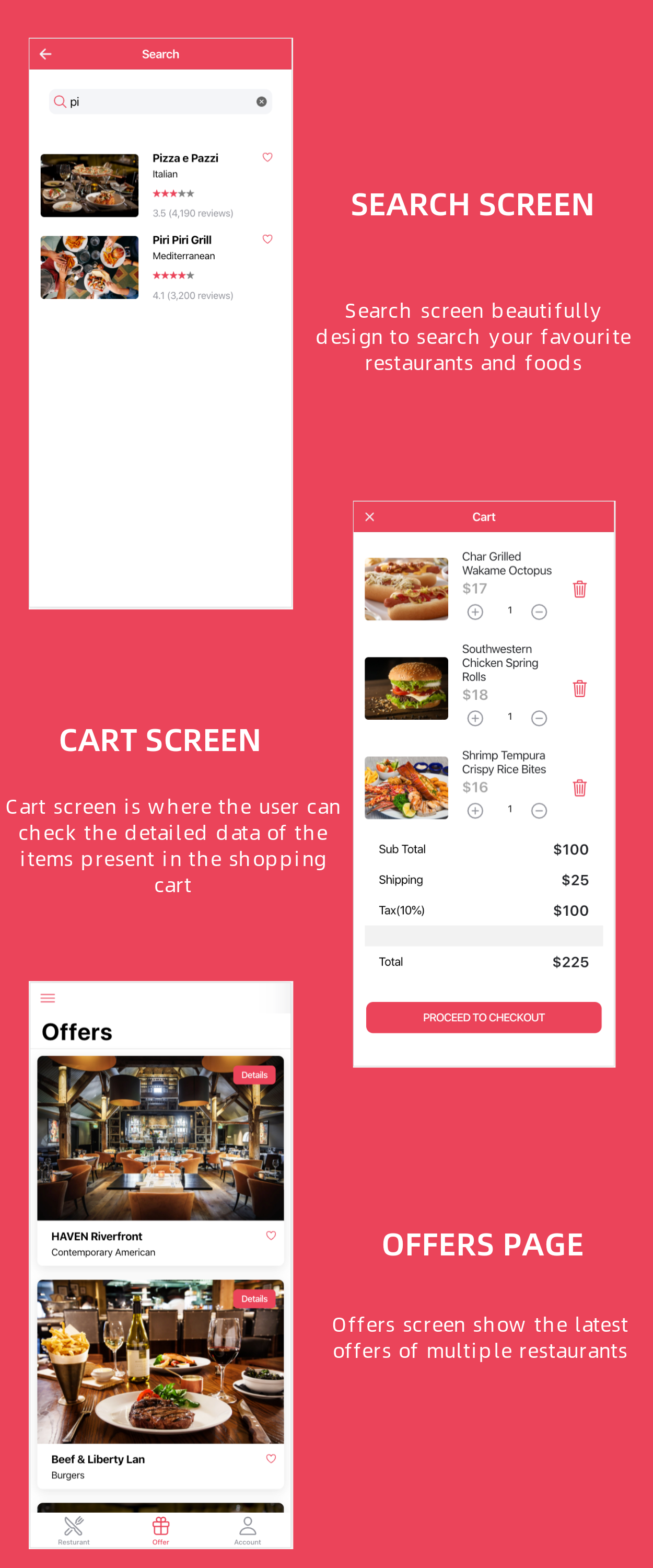 Restaurant and Food Delivery Ecommerce App (Ionic5 & Capacitor) Template UI - 9