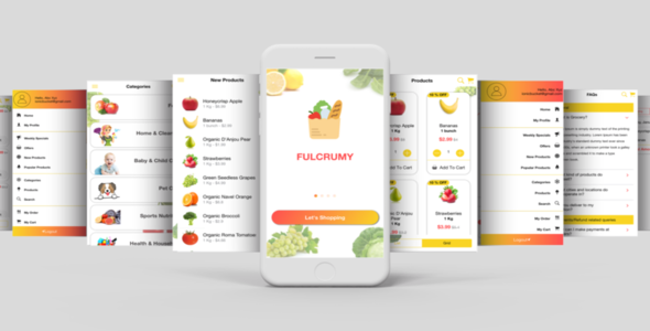 Complete Multipurpose eCommerce Template UI Grocery App Supports Multiple Language i18n