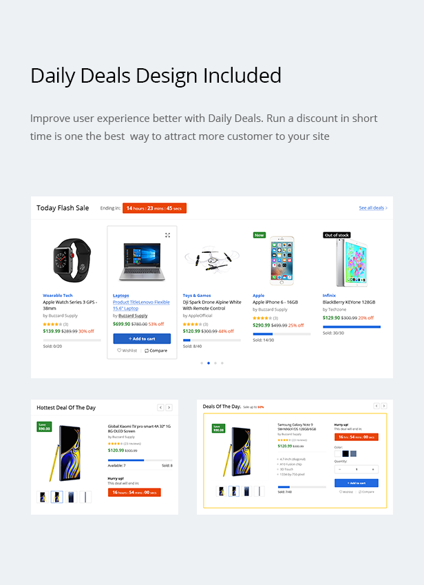 Teckoo - Electronic & Technology Marketplace eCommerce PSD Template - 13