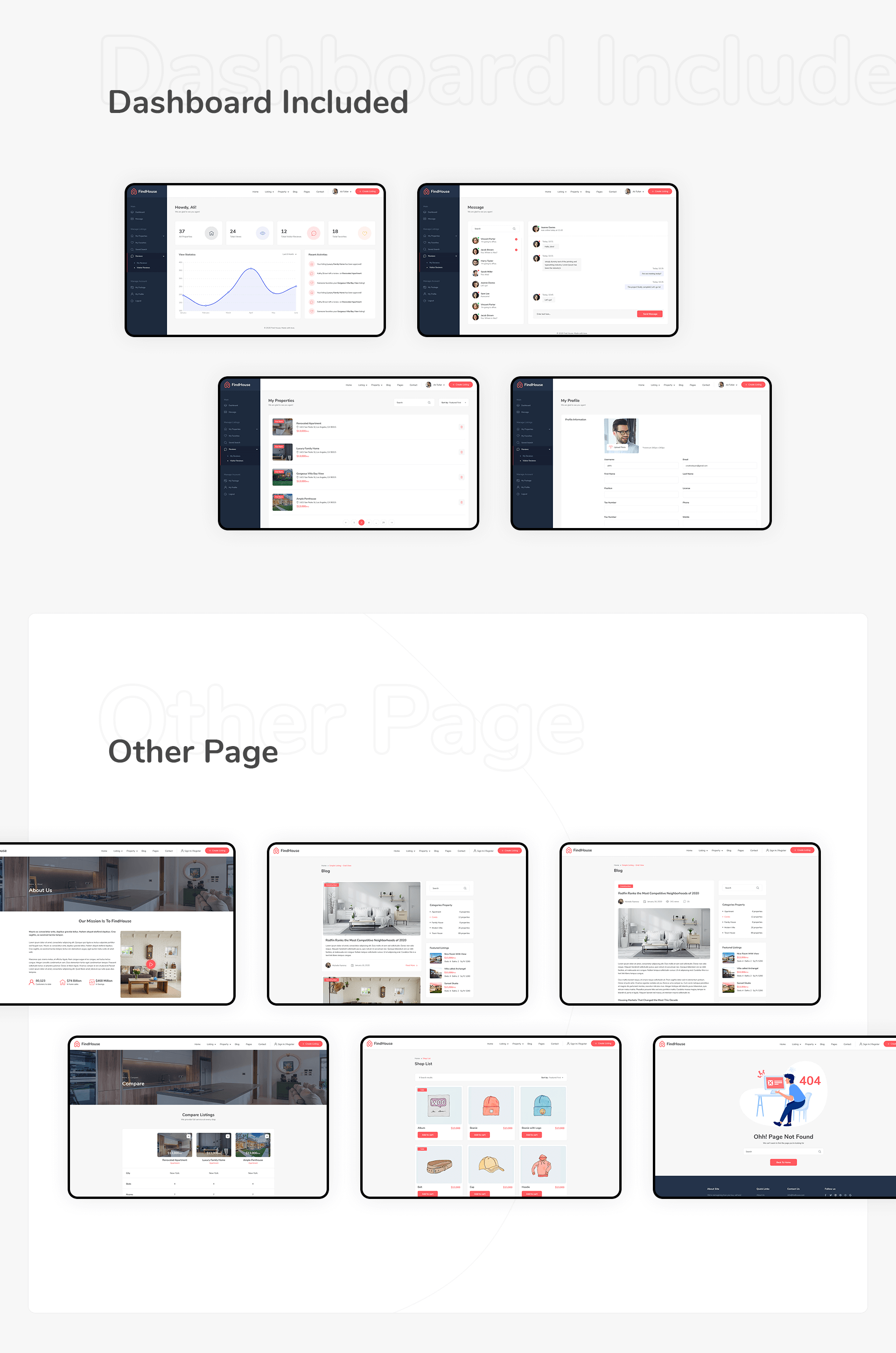 FindHouse - Real Estate PSD Template - 6