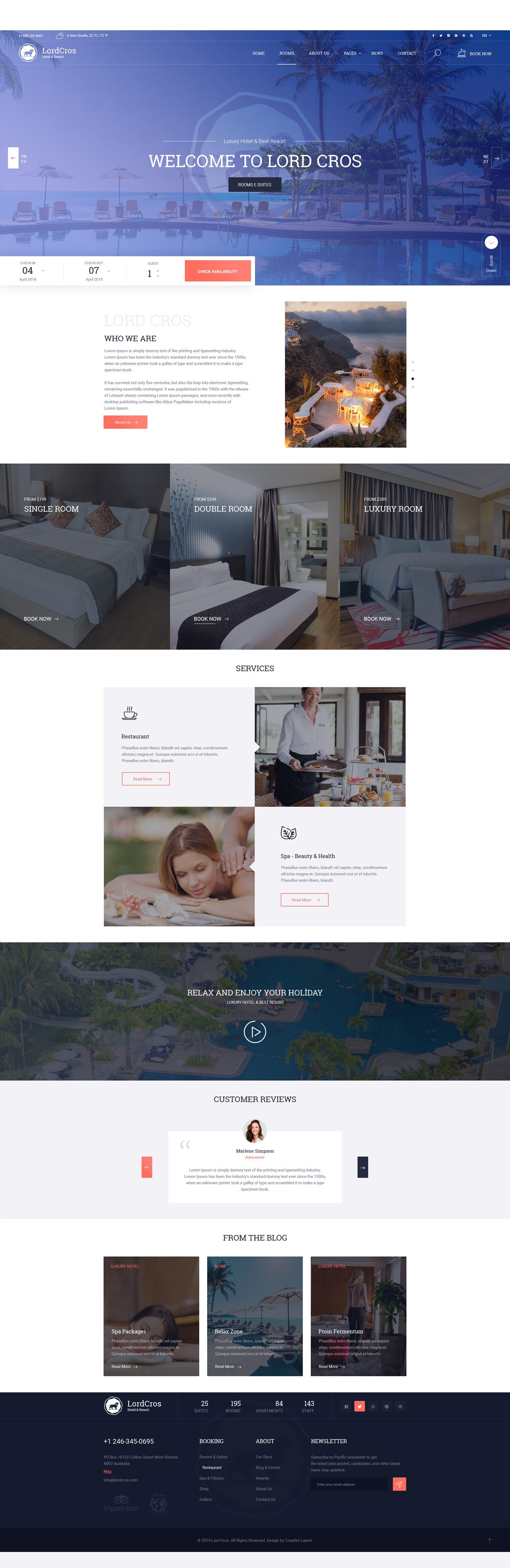 LordCros - Hotel, Resort & Spa PSD Template - 2