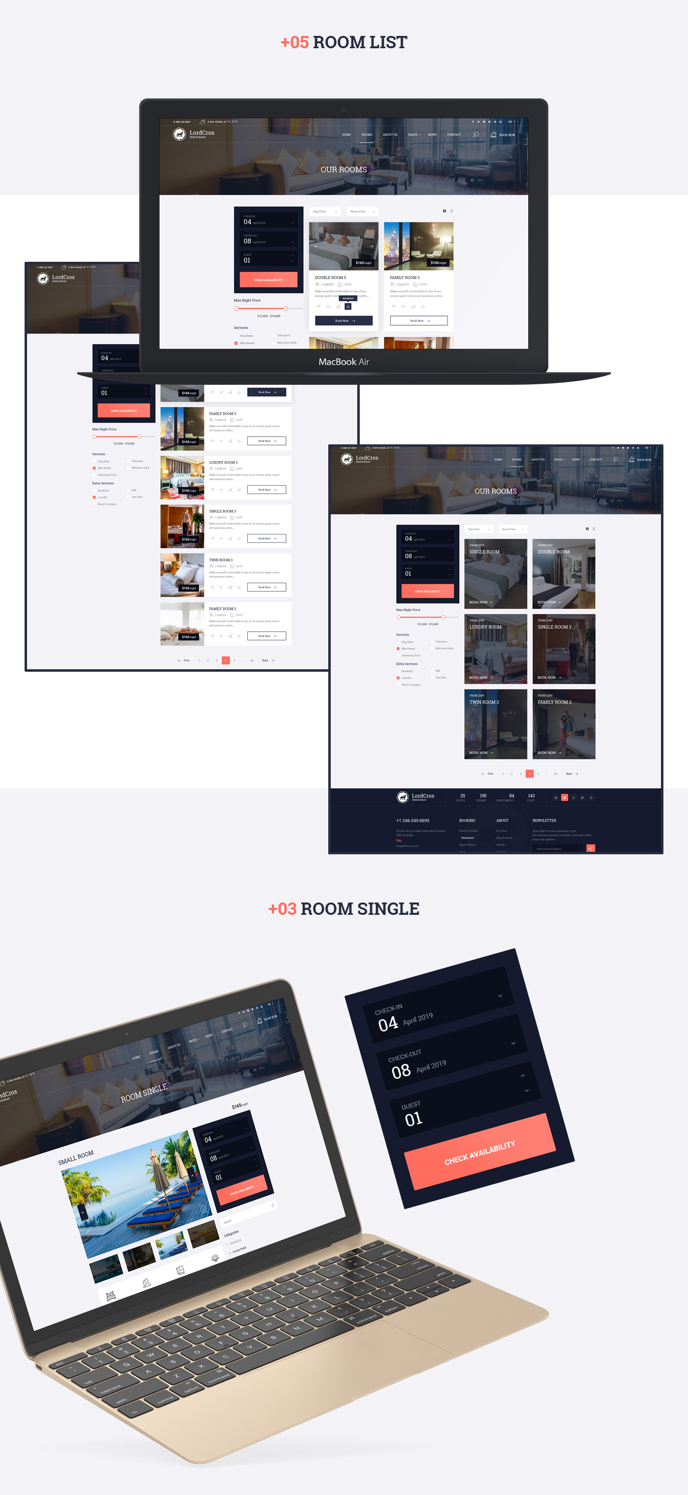 LordCros - Hotel, Resort & Spa PSD Template - 4