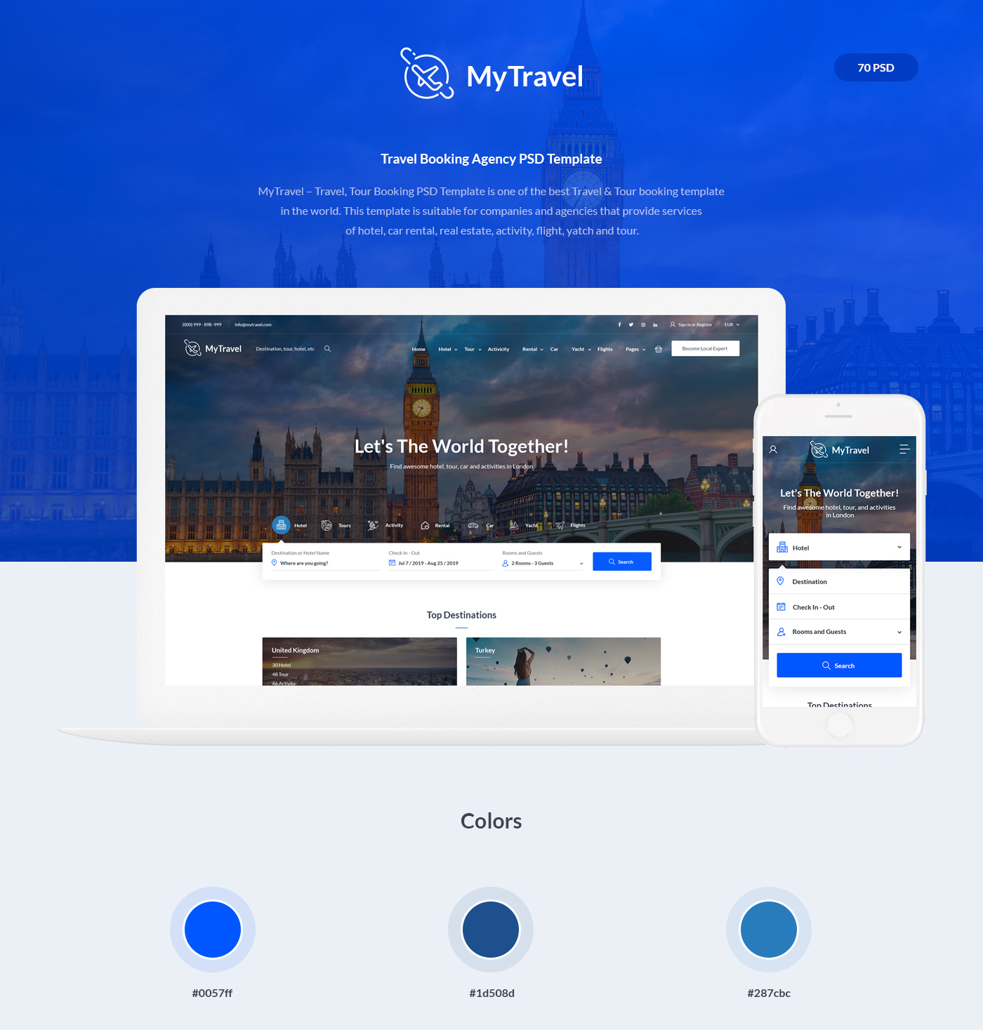 Travel Booking Agency PSD Template - 1