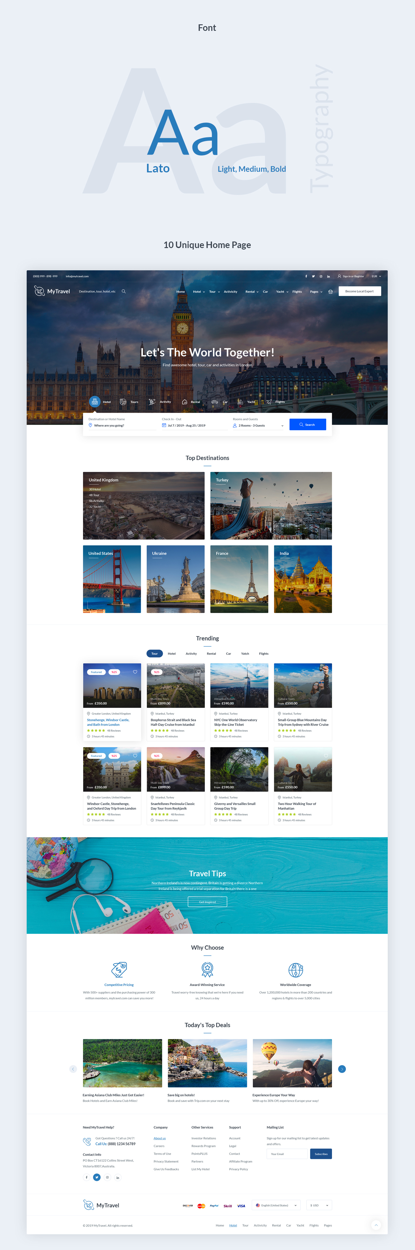 Travel Booking Agency PSD Template - 2