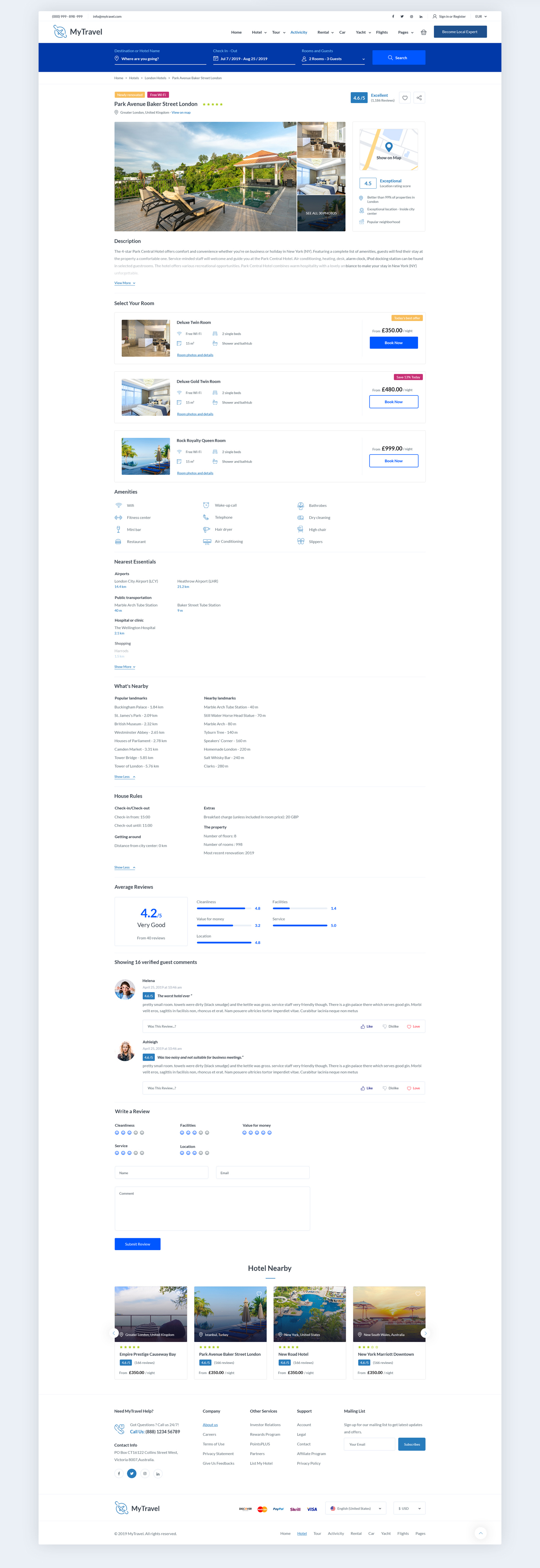 Travel Booking Agency PSD Template - 5