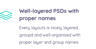 Well-layered PSDs with proper names