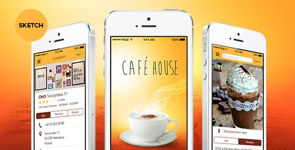 Cafe House – App Sketch Template