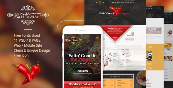 3002 – Restaurant PSD Template