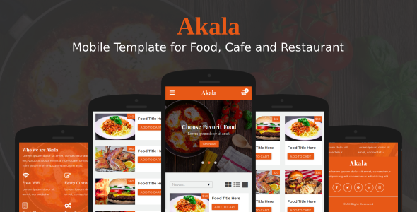 Akala – Mobile Template for Food, Cafe and Restaurant