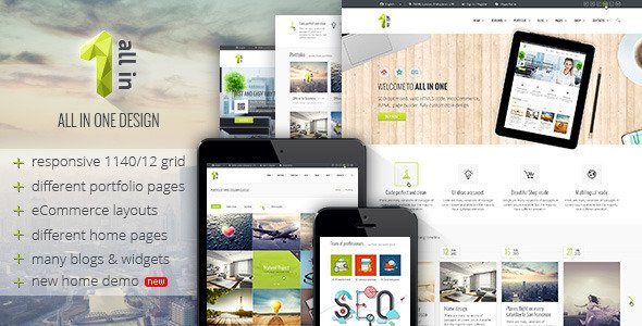 All in 1 – PSD Template. | Multi-Purpose Business