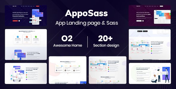 Apposass- App and Sass Product Landing Page PSD Template
