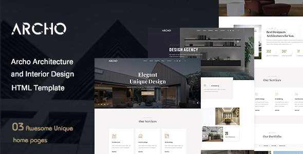 Archo – Architecture & Interior Design HTML Template