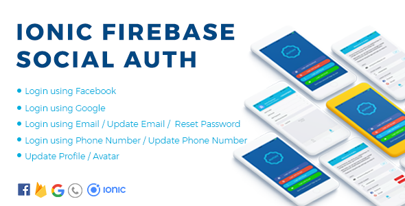 Authy – Ionic Firebase Social Authentication Full App