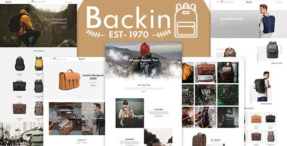 Backin – Bags And Backpack Modern Shopify Theme
