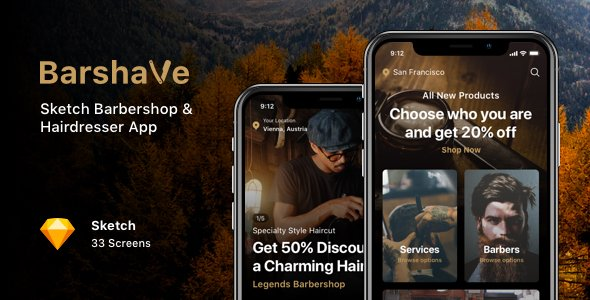 Barshave – Sketch Barbershop & Hairdresser App