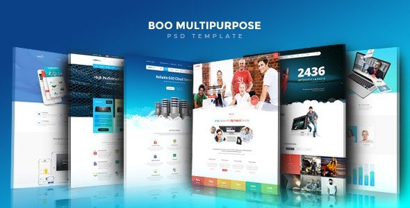 Boo | Creative – Cloud Hosting – University – eCommerce – Mobile App – Personal – Lawyer PSD