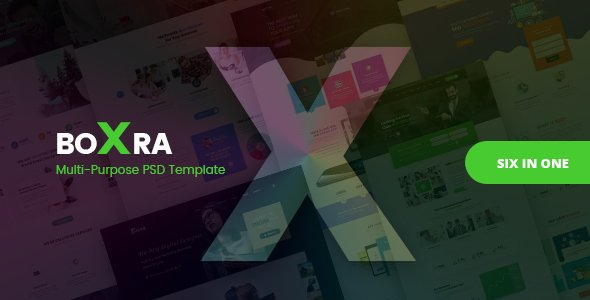 Boxra – Multipurpose PSD Template
