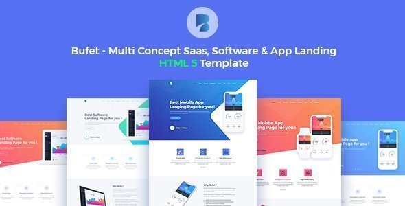 Bufet – Multi-Concept App, Saas and Software Landing Page