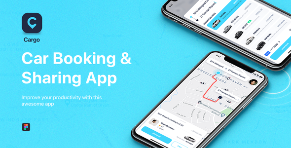 CARGO – Car Booking for Figma