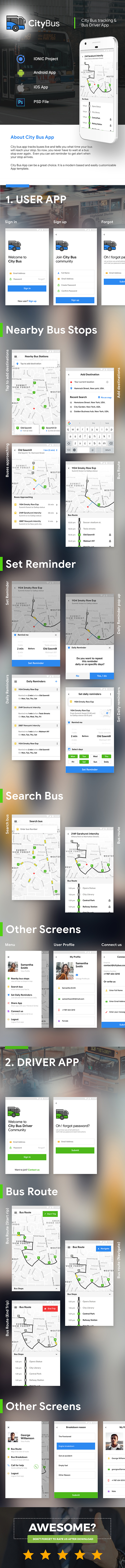 City Bus Tracking App with Driver App (Android App Template & iOS App Template) (HTML+CSS | IONIC 5) - 2