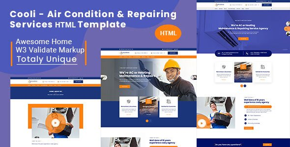 Cooli | Air Conditioning & Repiring Services Html Template