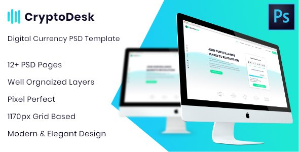 CryptoDesk – A Crypto Currency PSD Template