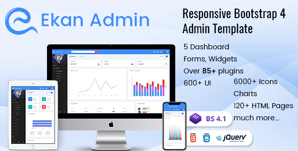 Ekan – Responsive Bootstrap Admin Templates with UI Framework