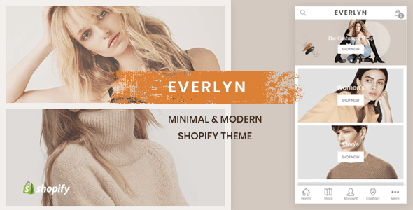 Evelyn – Mobile Friendly Minimal Shopify Theme