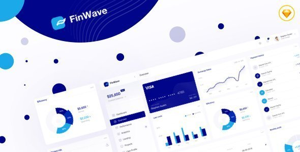 FinWave — Finance dashboard UI Kit