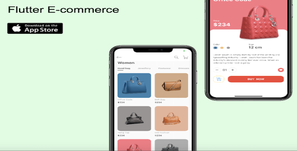 Flutter Ecommerce App –  Android / iOS – Firebase – Stripe